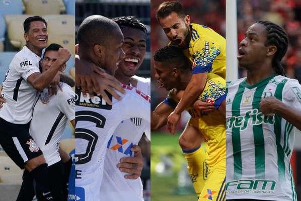 Corinthians, Santos, Flamengo e Palmeiras estão nas primeiras posições do ranking de aproveitamentos na temporada em jogos oficiais. Veja a lista abaixo