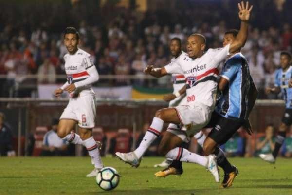 Último confronto: São Paulo 1 x 1 Grêmio - 24/7/2017 - Brasileiro