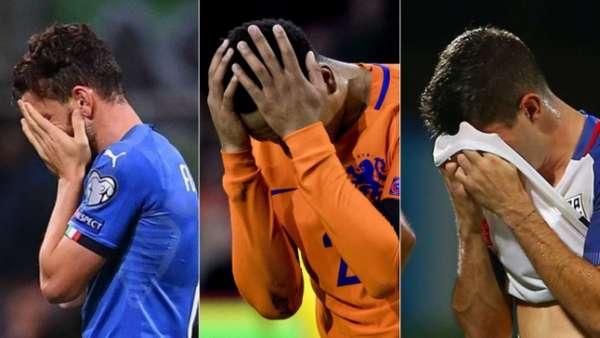 Itália, Holanda e Estados Unidos são algumas das seleções de destaque que caíram nas Eliminatórias