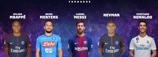 Escolha para o Time do ano da Uefa tem atacantes de peso. Veja na galeria os concorrentes