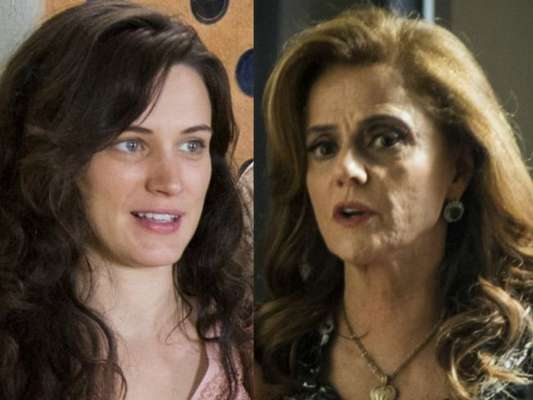 Clara (Bianca Bin) acusa Sophia (Marieta Severo) de usar trabalho escravo em seu garimpo, na novela 'O Outro Lado do Paraíso'