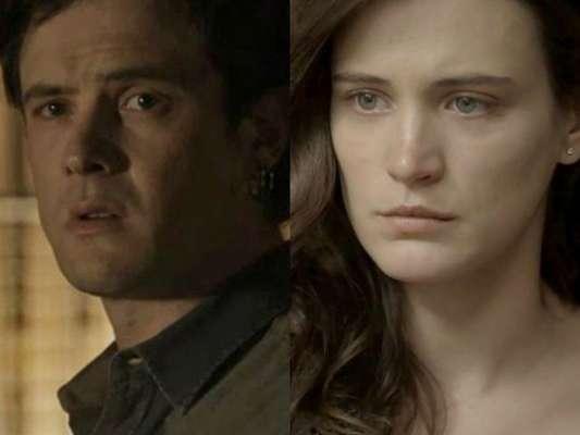 Gael (Sergio Guizé) implora para que Clara (Bianca Bin) o ajude, mas ela se recusa e o humilha, na novela 'O Outro Lado do Paraíso'