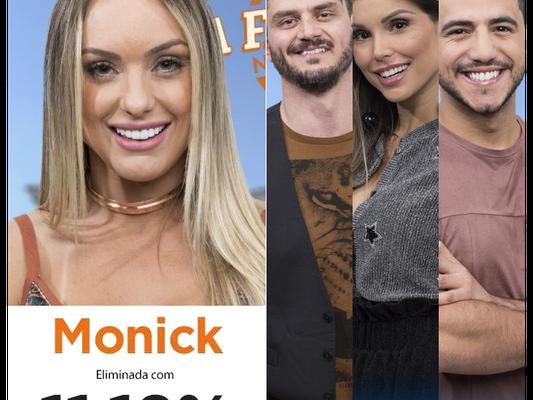 """Monick é eliminada de """"A Fazenda""""; Marcos e Flávia disputam vão para final contra Matheus!"""