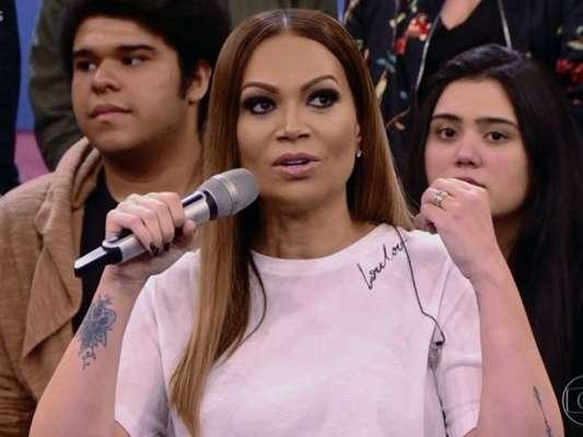Solange Almeida participou do programa 'Altas Horas' deste sábado, 6 de janeiro de 2018