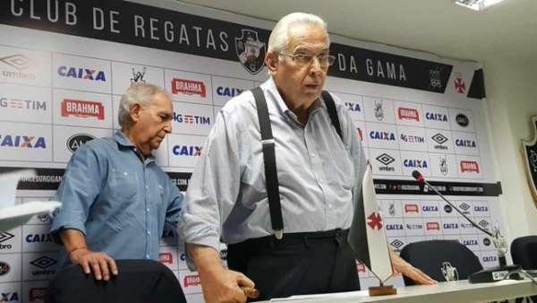 Eurico Miranda na coletiva no Vasco nesta terça-feira. Confira fotos da eleição na galeria especial do LANCE!