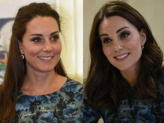 Kate Middleton repetiu o mesmo vestido usado na gravidez de Charlotte nesta quinta-feira, 11 de janeiro de 2018