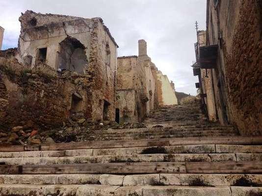 Ruínas de Poggioreale, cidade destruída pelo terremoto de Belice