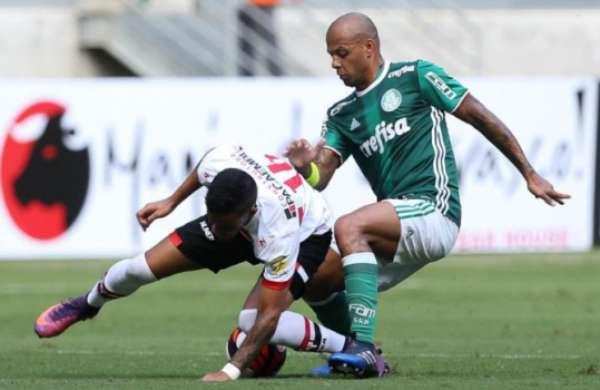 Último encontro: Palmeiras 1 x 0 Botafogo-SP - 5/2/2017