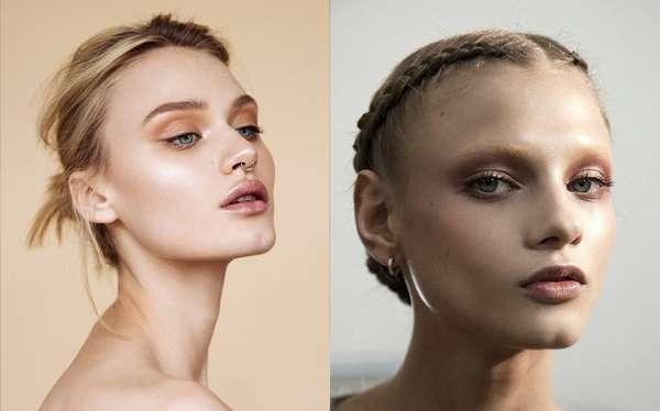 Tons terrososO marrom é uma das cores mais usadas para uma maquiagem simples, mas ao mesmo tempo deslumbrante. Outra dica é apostar no rosa millennial, o tom não é tão forte e deixa a pele com um aspecto bem saudável. Foto: Reprodução/Pinterest | Reprodução/Pinterest