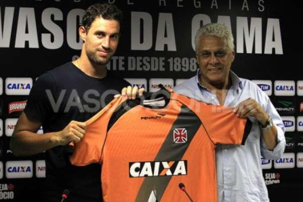 Martin foi apresentado no Vasco em janeiro de 2014, pelo então presidente Eurico Miranda