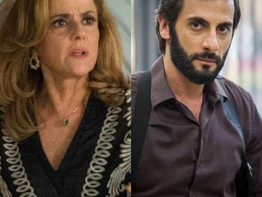 Sophia (Marieta Severo) manda Rato (César Ferrario) matar Vinícius (Flávio Tolezani) com explosivos dentro da mina, no capítulo que vai ao ar sábado, dia 17 de fevereiro de 2018, na novela 'O Outro Lado do Paraíso'