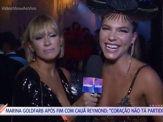 Mariana Goldfarb deixa Mônica Salgado sem graça ao não responder pergunta sobre término com Cauã Reymond, em 5 de fevereiro de 2018
