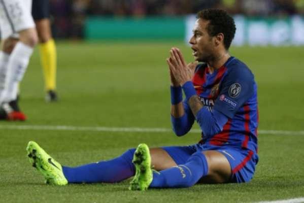 Imagens de Neymar pelo Barcelona