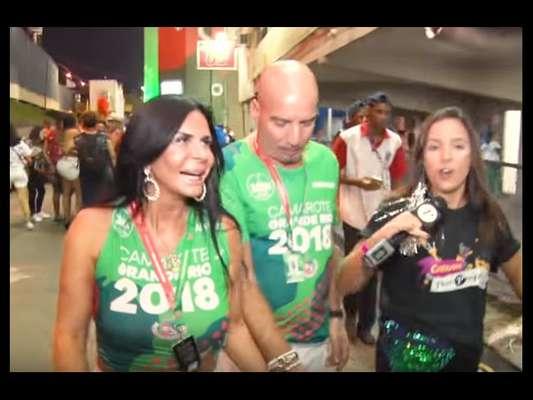 Gretchen volta à Sapucaí com a companhia do marido, o empresário Carlos Marques