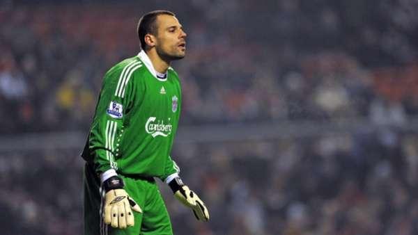 Diego Cavalieri jogou no Liverpool entre 2008 e 2010