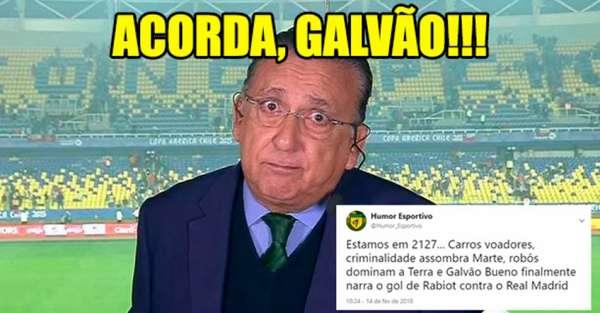 Atraso na narração de Galvão Bueno repercute nas redes