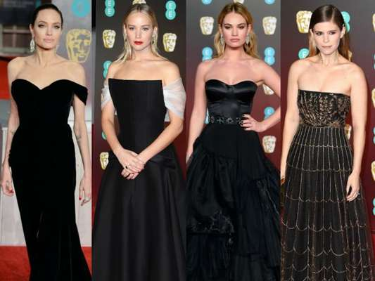 Famosas esbanjam glamour no red carpert do British Academy Film Awards, o BAFTA, realizado no salão de espetáculos Royal Albert Hall, em Londres, na noite deste domingo, 18 de fevereiro de 2018