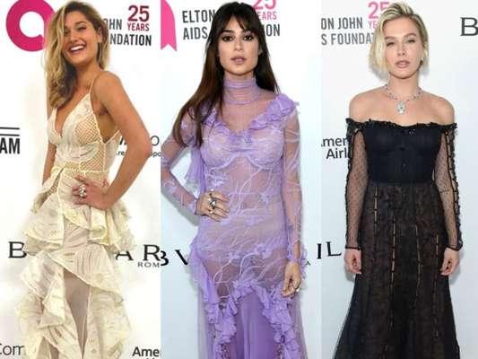 Sasha Meneghel Thaila Ayala e mais brasileiras usam transparência em festa pós-Oscar