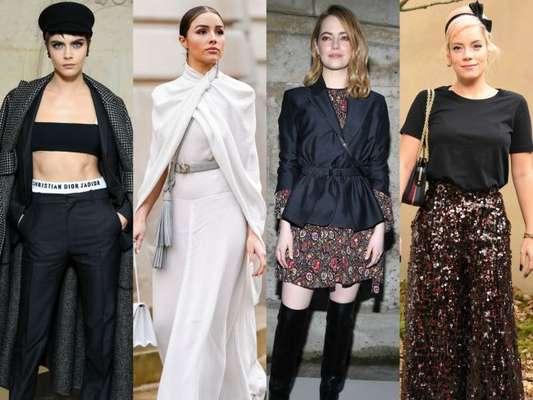 Cara Delevingne, Olivia Culpo, Emma Stone e Lily Allen prestigiaram os desfiles da Semana de Moda de Paris com coleção de outono e inverno 2019, que aconteceu entre os dias 27 de fevereiro a 6 de março de 2018