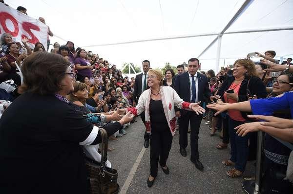 Presidente do Chile Michelle Bachelet no dia internacional da mulheres fala em erradicar a violência contra as mulheres