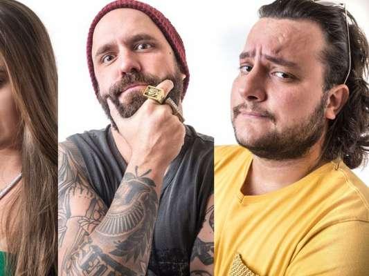Patrícia, Caruso e Diego estão no Paredão do 'BBB18', em 12 de março de 2018