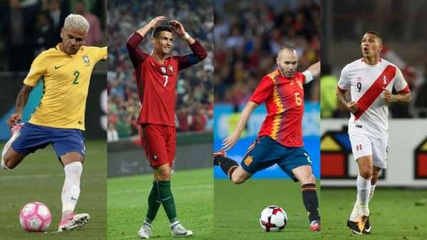 Daniel Alves, Cristiano Ronaldo, Iniesta e Guerrero devem disputar seu último Mundial
