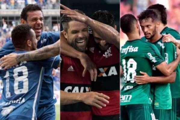 Cruzeiro, Flamengo e Palmeiras têm os melhores aproveitamentos na temporada 2018. Veja os demais times da Série A