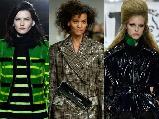 Semanas de moda internacionais apontam o vinil como tendência do inverno 2018