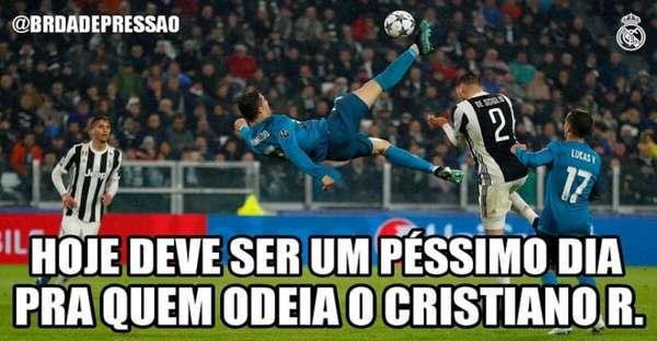 Web repercute golaço de bicicleta de Cristiano Ronaldo contra a Juventus, pela Liga dos Campeões