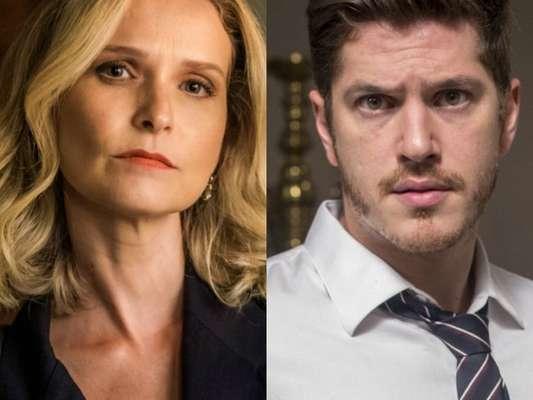Fabiana (Fernanda Rodrigues) é presa por Bruno (Caio Paduan) após o resgate de Tomaz (Vitor Figueiredo), na novela 'O Outro Lado do Paraíso'