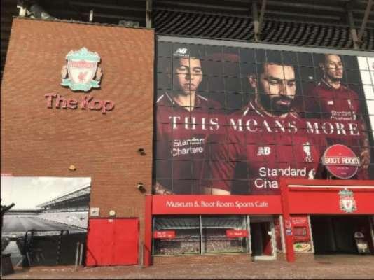 Protagonismo de Salah fica evidente também no estádio e na loja do Liverpool