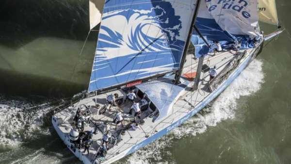 "Turn The Tide on Plastic, que na tradução significa ""Vire a maré contra o plástico"", disputa a Volvo Ocean Race"