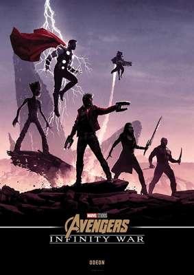 Pôsteres de Vingadores: Guerra Infinita pelo mundo afora