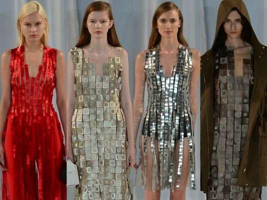Grife brasileira Gloria Coelho aposta em looks metalizados na coleção verão 2019 no último dia do 45º São Paulo Fashion Week
