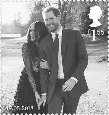 GB cria selos dedicados ao casamento de Harry e Meghan