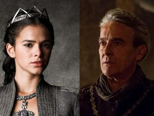 Catarina (Bruna Marquezine) é ameaçada por Otávio (Alexandre Borges) depois que o rei da Lastrilha sequestra seu pai, Augusto (Marco Nanini), nos próximos capítulos da novela 'Deus Salve o Rei'