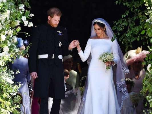 Meghan Markle usa vestido de noiva inspirado na primeira noiva negra da realeza ocidental, em seu casamento com príncipe Harry, em 20 de maio de 2018