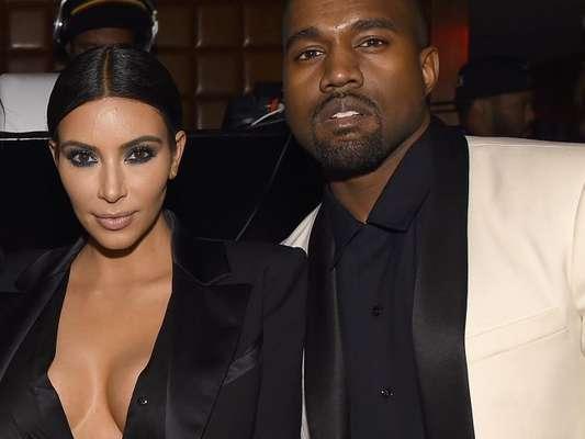 Kim Kardashian completou quatro anos de casamento com Kanye West nesta quinta-feira, 24 de maio de 2018