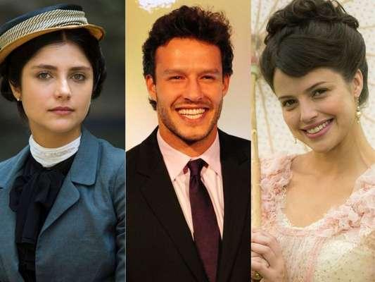 Ex-namorado de Fani (Tammy Di Calafiori), Edmundo (Nando Rodrigues) é obrigado pelo pai, Tibúrcio (Oscar Magrini), a se casar com Ema (Agatha Moreira) na novela 'Orgulho e Paixão'
