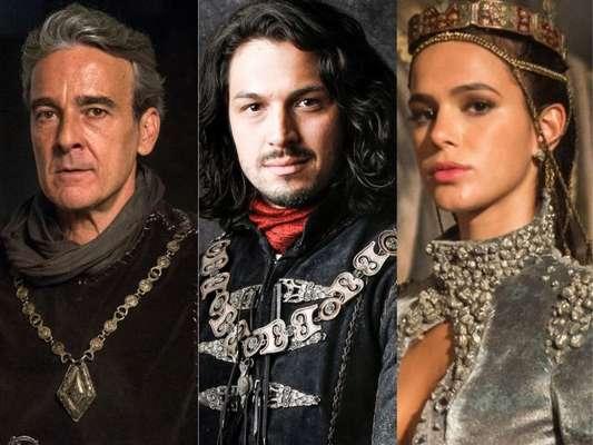 Afonso (Romulo Estrela) duela com Otávio (Alexandre Borges) para impedir casamento do rei com Catarina (Bruna Marquezine) nos próximos capítulos da novela 'Deus Salve o Rei'