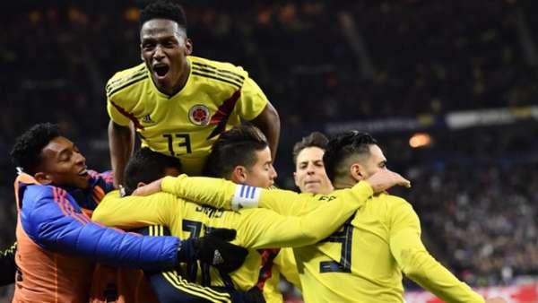 Colômbia em vitória sobre a França em amistoso