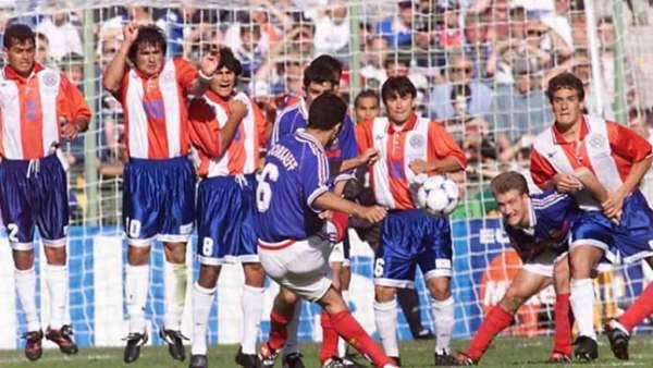 Gol de ouro em 98 - França eliminou o Paraguai