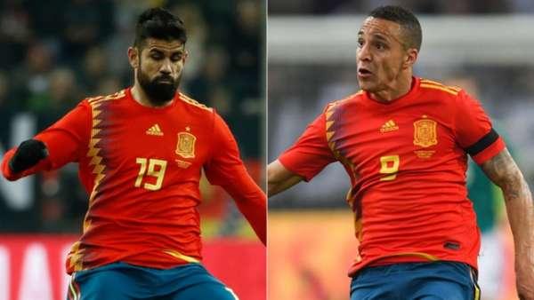 Diego Costa e Rodrigo são os principais candidatos a assumir a titularidade no ataque da seleção espanhola