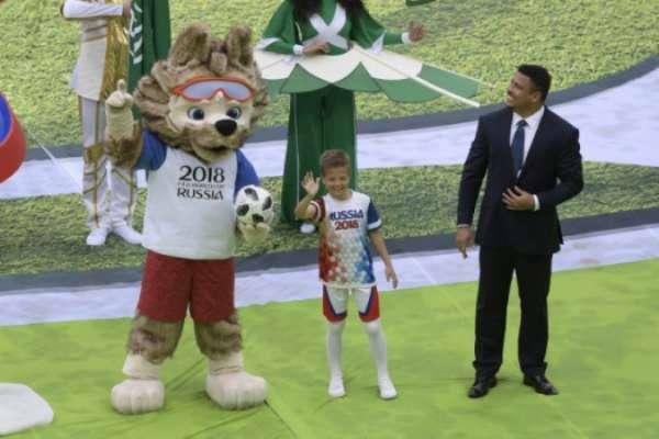 Ronaldo na festa de abertura