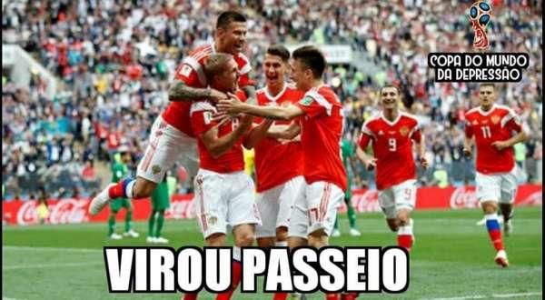 Humor na Copa: os memes de Rússia 5-0 Arábia Saudita