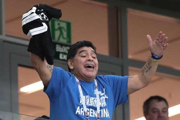 Maradona está na torcida pela Argentina