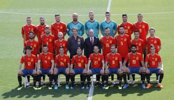 Foto da Espanha para a Copa do Mundo