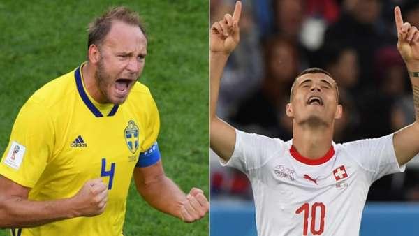 Granqvist e Xhaka são destaques de suas respectivas seleções