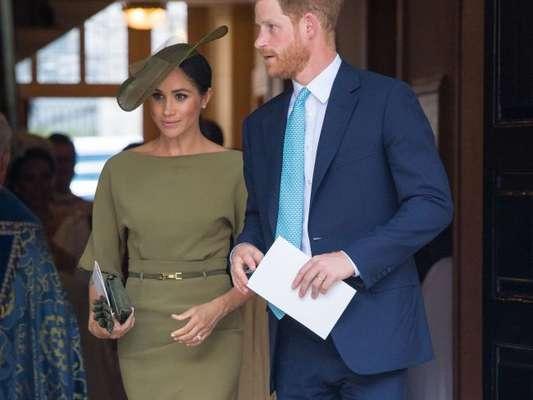 Meghan Markle usa vestido verde oliva no casamento do sobrinho, Príncipe Louis, nesta segunda-feira, dia 09 de julho de 2018