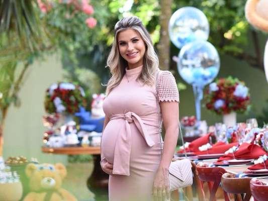 Ursinhos! Andressa Suita organiza chá de bebê para 2º filho, Samuel, nesta quarta-feira, dia 11 de julho de 2018